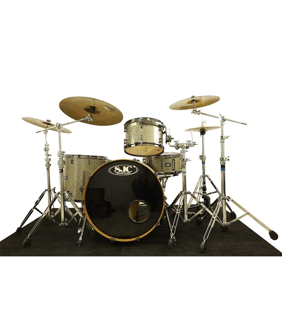 SJC Custom Ginger Glitter 4pc Drumkit