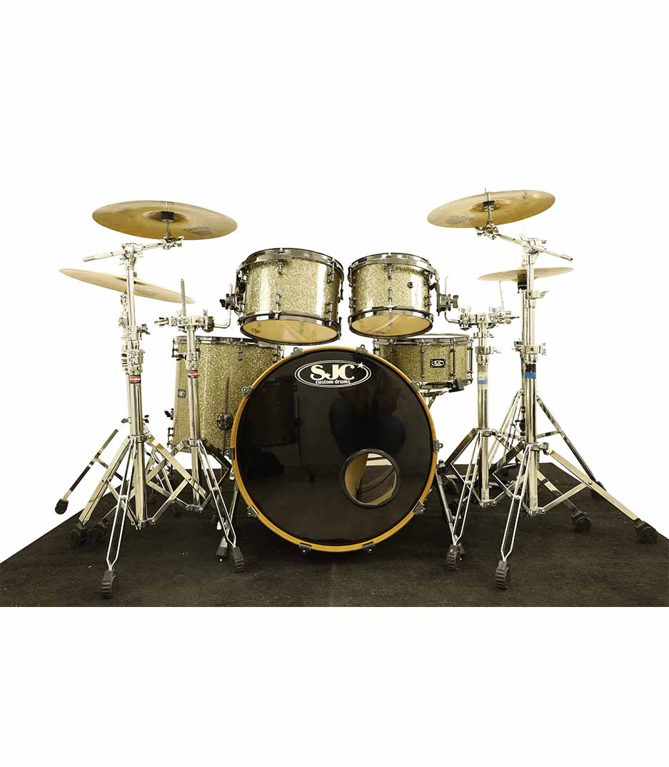 SJC Custom Ginger Glitter 5pc Drumkit