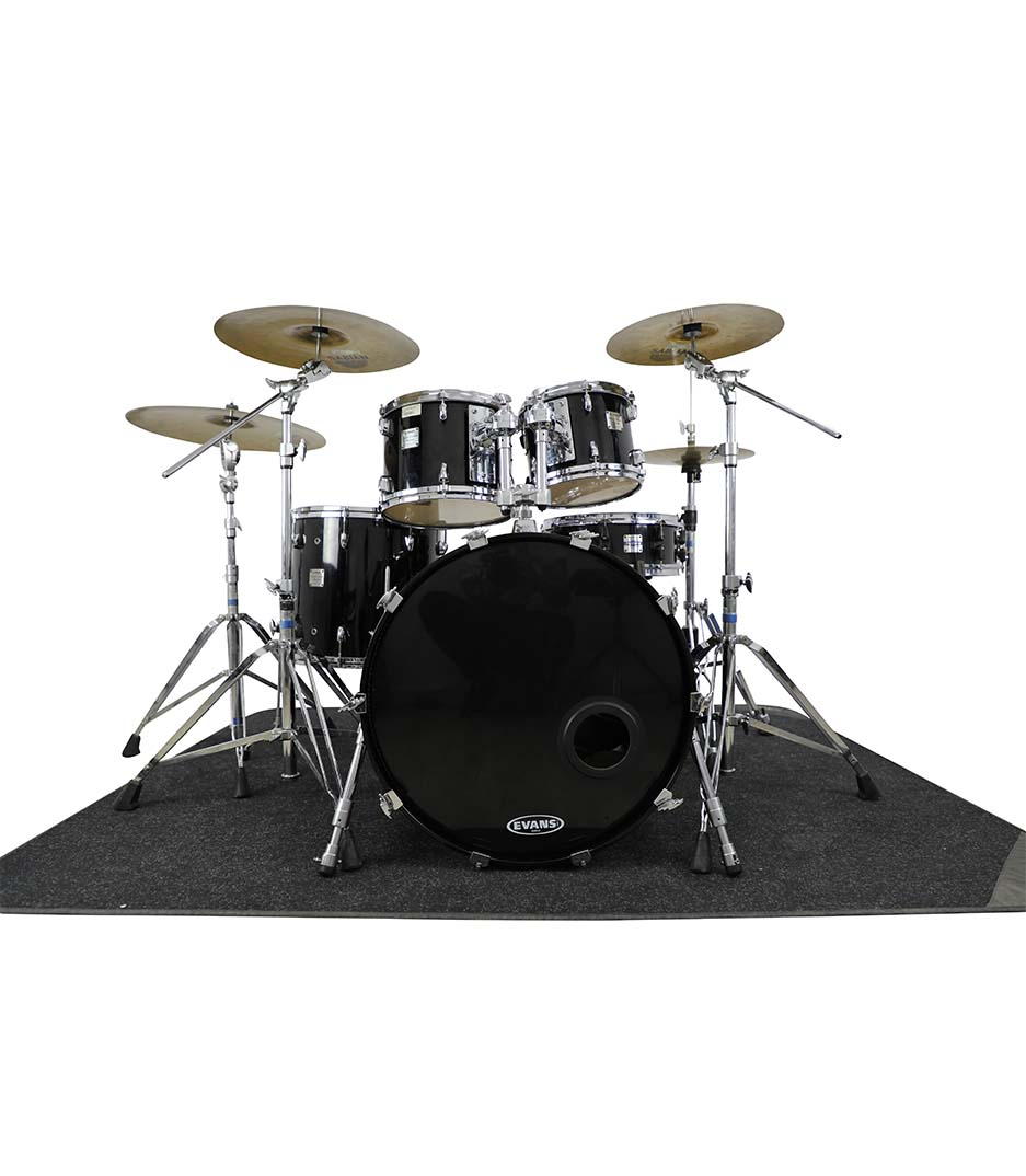 Yamaha Maple Custom Absolute Black Chrome 5pc Drumkit
