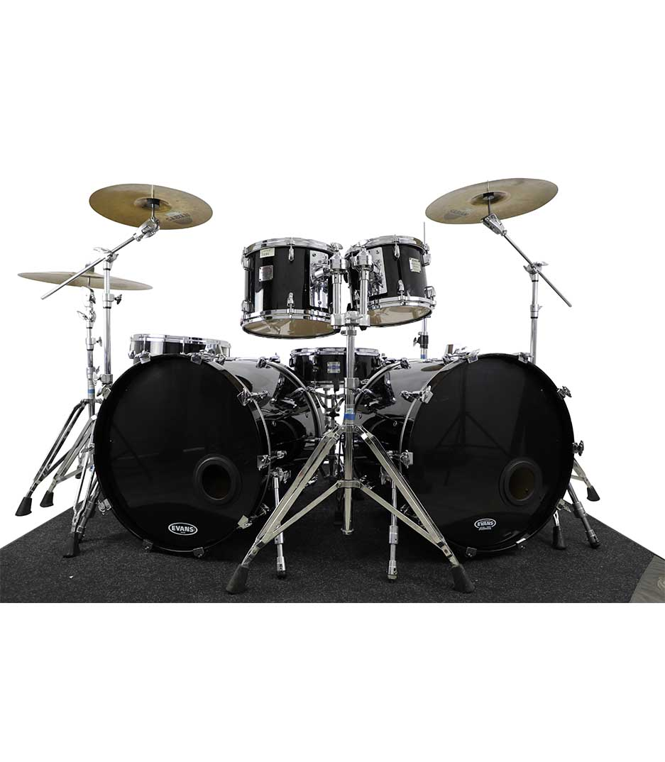 Yamaha Maple Custom Absolute Black Chrome 6pc Drumkit