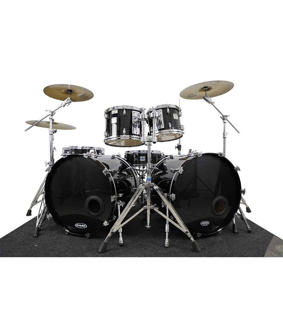Yamaha Maple Custom Absolute Black Chrome 7pc Drumkit